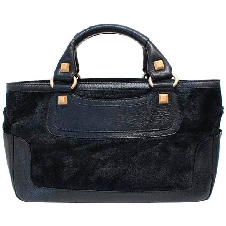 Celine Black Ponyhair Boogie Bag 1