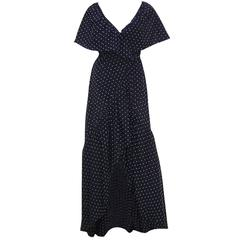 Free Spirited 1970's Halston Swiss Dot Wrap Dress