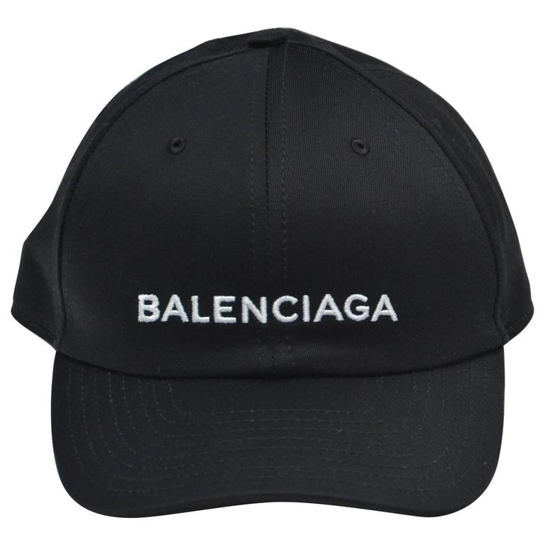 Balenciaga Black Logo Embroidered Hat NEW at 1stdibs d47e2d18381