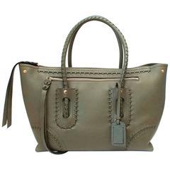 Alexander McQueen Green Folk Large Tote Bag