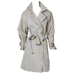 Chanel Gingham Belted Trench