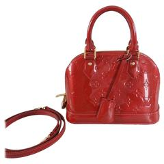 Louis Vuitton Alma BB in Cherry Red Vernis - mini size