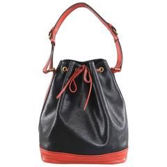 Louis Vuitton Vintage 1992 Grand Noe Bag - Red and Black Epi leather