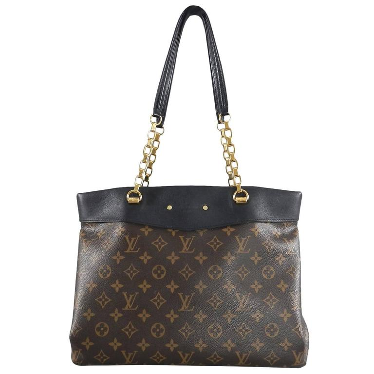 Louis Vuitton Pallas Shopper Bag - Monogram canvas and black