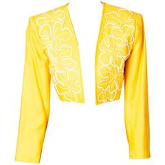 Yves Saint Laurent Cropped Linen jacket