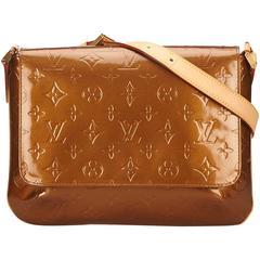 Louis Vuitton Brown Vernis Thompson Street Shoulder Bag