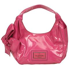 Valentino Pink Patent Leather Nuage Bow Shoulder Bag