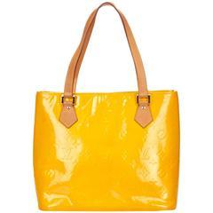 Louis Vuitton Yellow Vernis Houston Tote