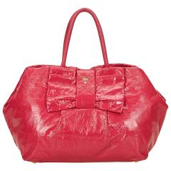 Prada Pink Patent Leather Tote
