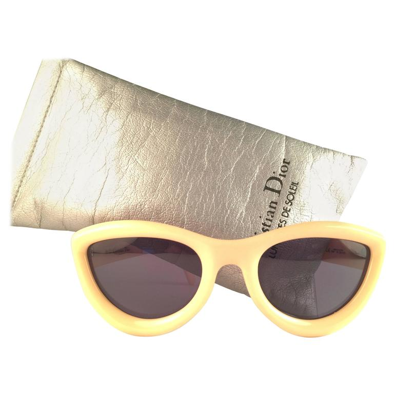 4628a594f8b6 New Vintage Christian Dior 2907 70 Beige Cat Eye Optyl Sunglasses For Sale