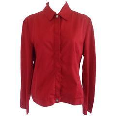 Versace Red Cotton Shirt