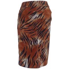 1980s Krizia Multicoloured Cotton Skirt