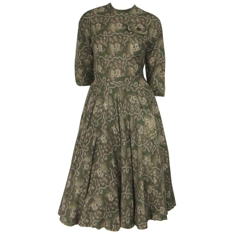 Vintage 1960's Galanos Double Layered Skirt Dress