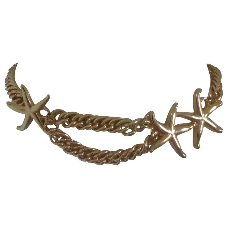Vintage gold tone starfish Belt