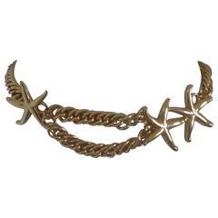 Vintage gold tone starfish Belt