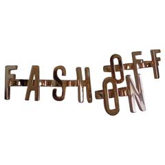Moschino Fash On Off Rings