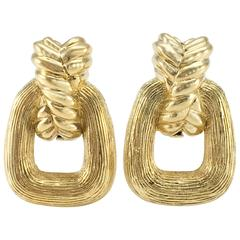 1980s Dior Gold-Tone Clip-On Earrings