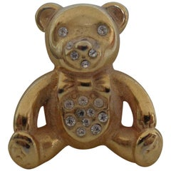 Vintage gold tone bear Brooch pin