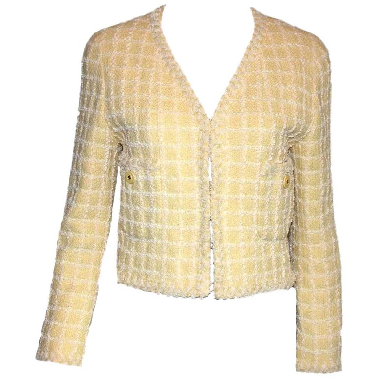 Iconic Chanel 1994 Yellow & Lime Pastels Jacket - Museum Piece