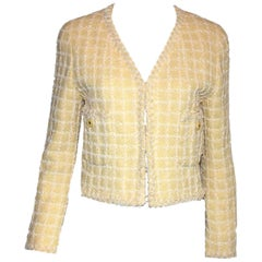 Iconic Chanel 1994 Yellow & Lime Pastels Lesage Tweed Jacket - Museum Piece