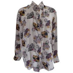 Brunetta White multicolour Silk Shirt