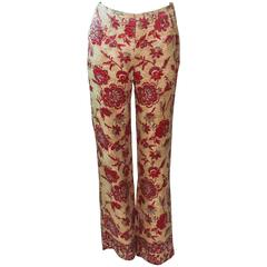 VALENTINO Silk Brocade Tapestry Pants Size 2 4
