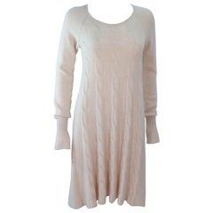 KRIZIA Cream Cashmere Knit Dress Size 42