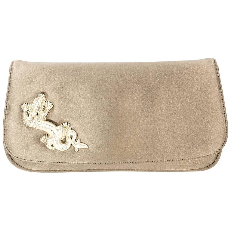 Barry Bronze Barry Kieselstein-Cord Satin Clutch