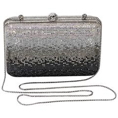 Silver & Black Judith Leiber Sequin Clutch