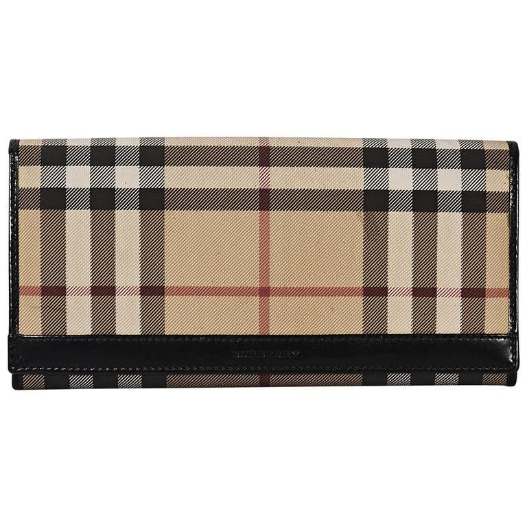 b8219c58db21 Tan Burberry Nova Check Wallet For Sale at 1stdibs