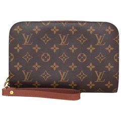 Louis Vuitton Monogram Canvas Orsay Wristlet Clutch Bag