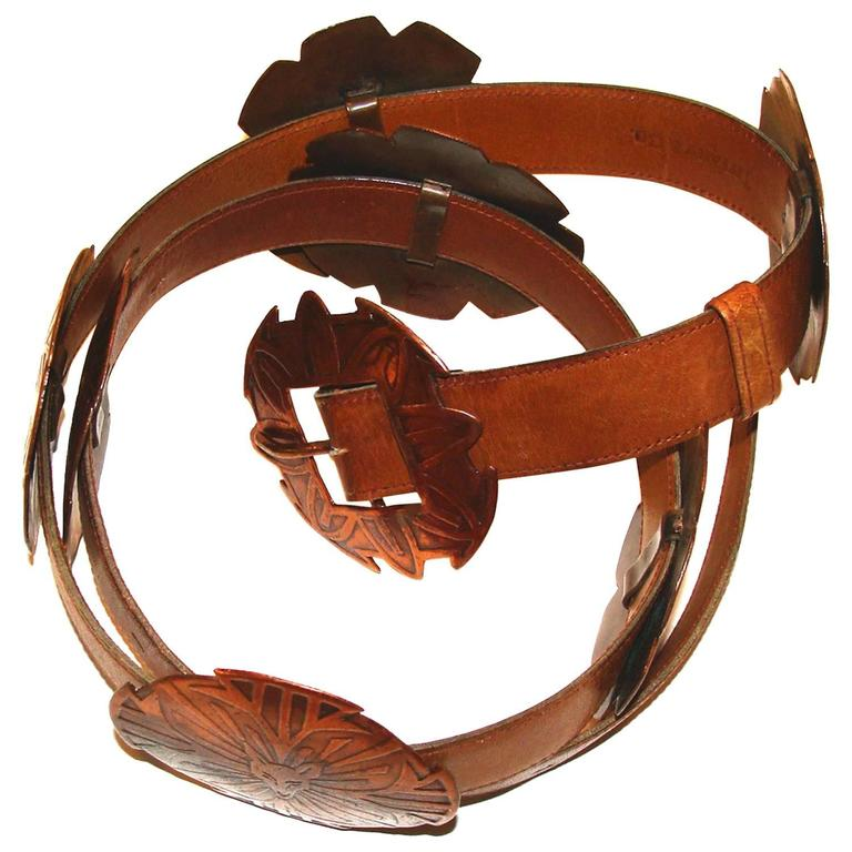 Unusual Concho Belt with Figural Copper Conchos