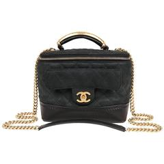 Chanel Black Leather Globetrotter Bag