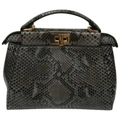 Fendi Mini Python Peekaboo Crossbody Bag