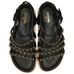Chanel Braided Leather Sandals 8