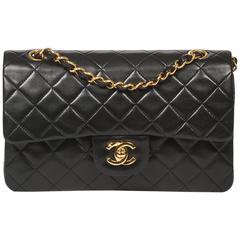 Chanel Classic Double Flap 23 Black Quilted Leather