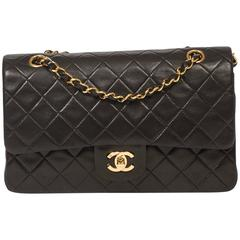 Chanel Classic Double Flap 26 Black Quilted Leather