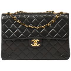 Chanel Jumbo Black Leather