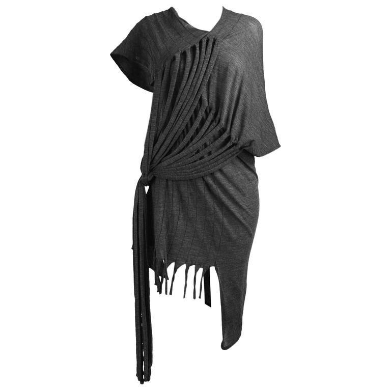 Junya Watanabe for Comme des Garcons Deconstructed Fine Knit Fringe Dress 1