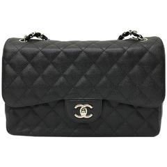 Chanel Black Jumbo Classic Chain Bag