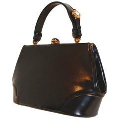 Rare Watch Handle Handbag by Nettie Rosenstein