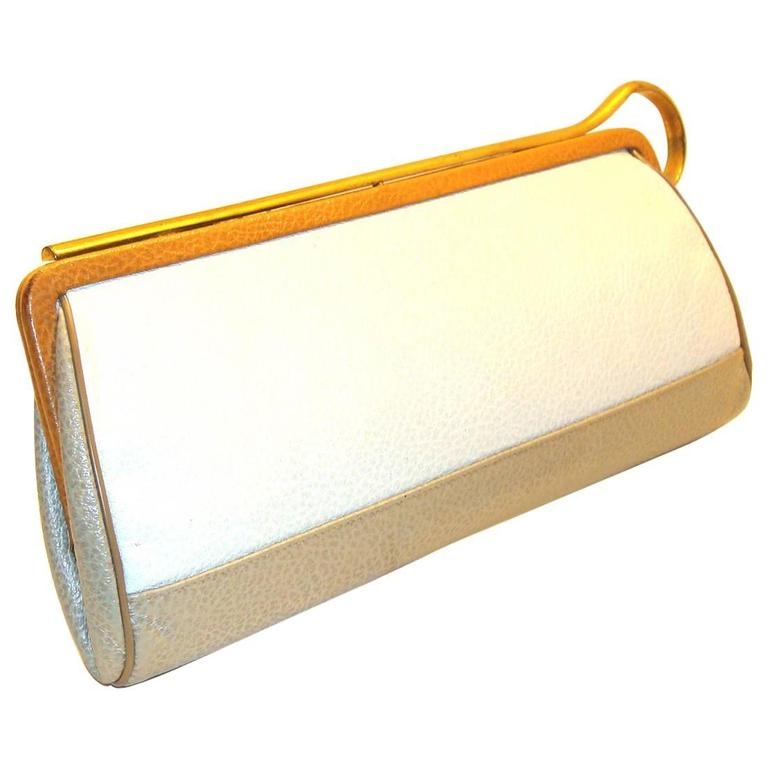 Tri-Color Clutch with Unusual Closure