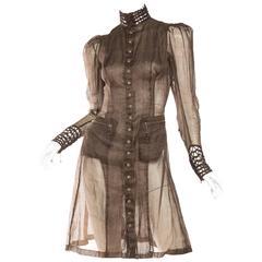 Jean Paul Gaultier Victorian Style Sheer Organdy Dress