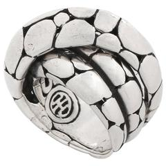 "JOHN HARDY ""Kali"" Sterling Silver Modernist Twist Ring"