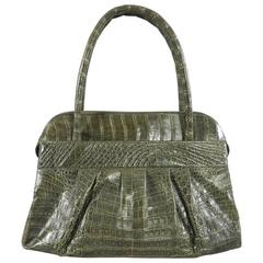Nancy Gonzalez Dark Green Crocodile Bag