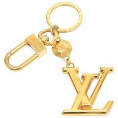 Louis Vuitton Facettes Gold Tone Key Chain/ Bag Charm