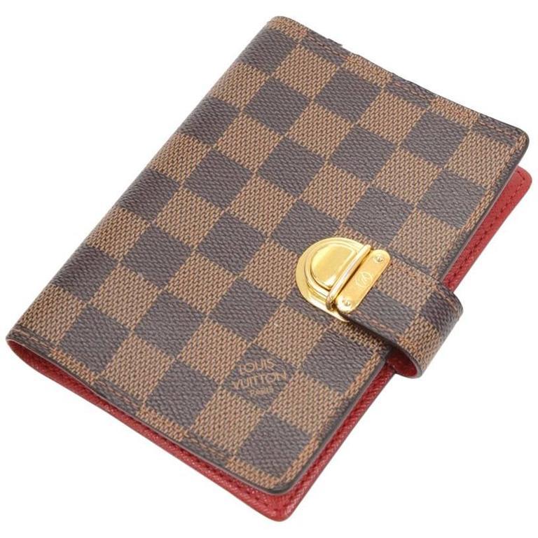 Louis Vuitton Agenda Fonctionnel PM Ebene Damier Canvas Agenda Cover For Sale