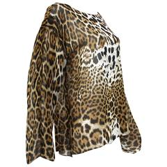 Tom Ford for Yves Saint Laurent S/S 2002 Safari Collection Silk Blouse Fr. 38- 6
