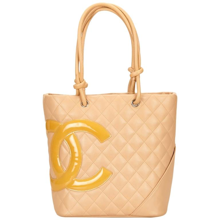 Chanel Yellow Cambon Ligne Bucket For Sale