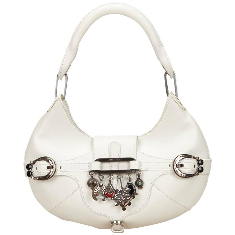Jimmy Choo White Leather Charm Handbag 1